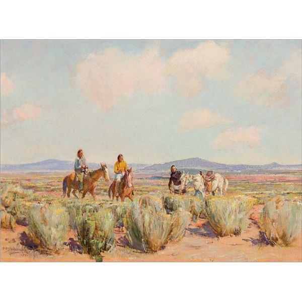 Oscar Berninghaus -Indians on Plain