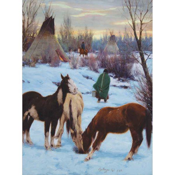 William Gollings -Cheyenne Winter Camp