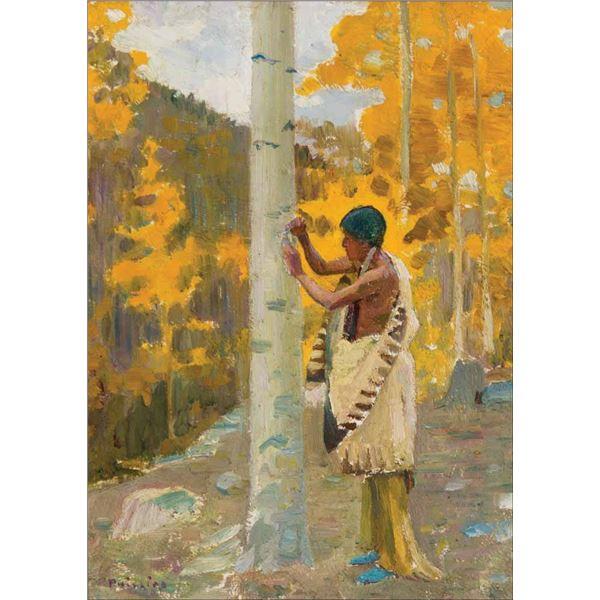 Bert G. Phillips -Carving the Tribal Emblem