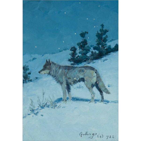 William Gollings -Wolf in Starlight