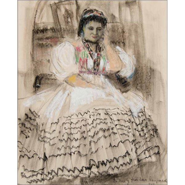 Leon Gaspard -Portrait of Noula Karavas, Toas 1957