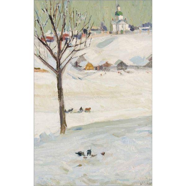Leon Gaspard -Winter Visitors - Vitebsk
