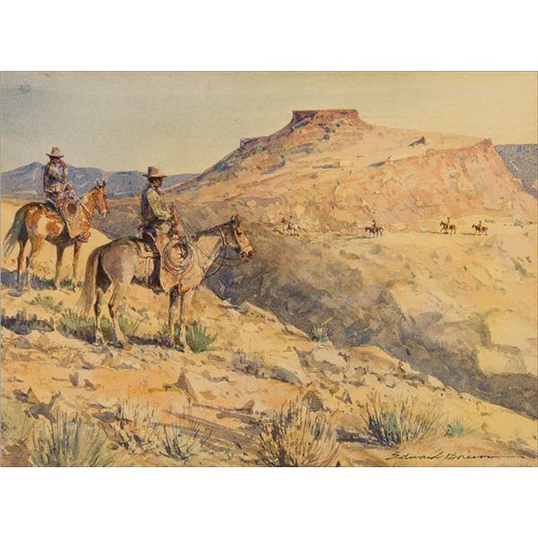 Edward Borein -Flat Top Riders