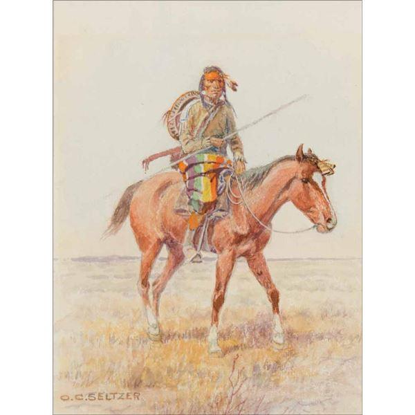 Olaf C. Seltzer -Indian on Horseback