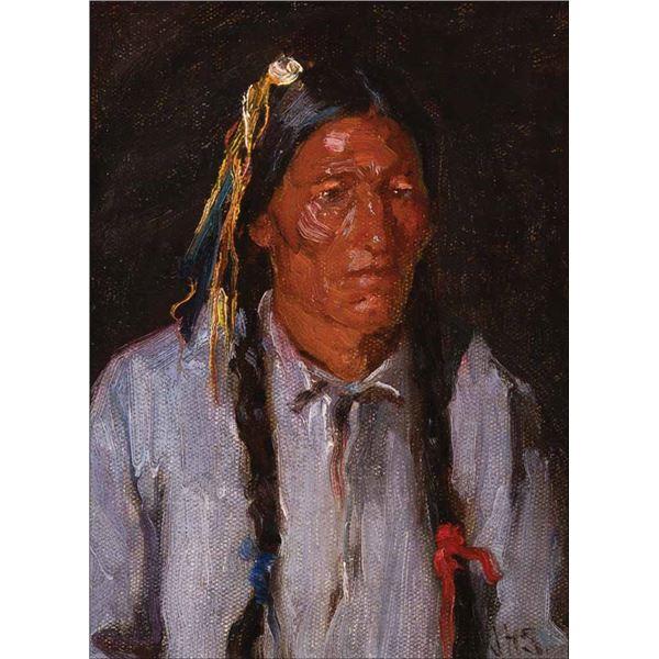 Joseph H. Sharp -Indian Portrait