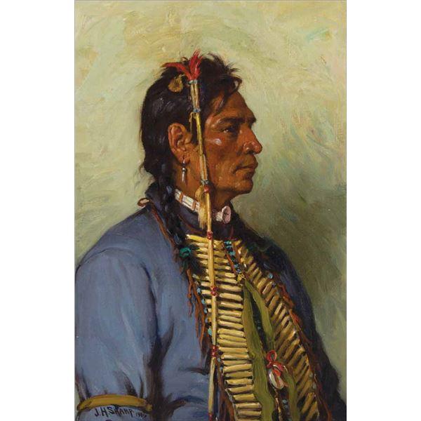 Joseph H. Sharp -Strikes His Enemy Pretty
