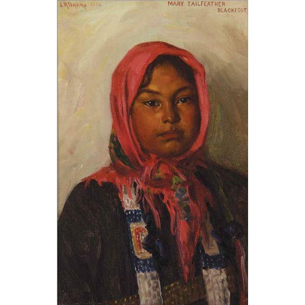 Joseph H. Sharp -Mary Tailfeather - Blackfoot