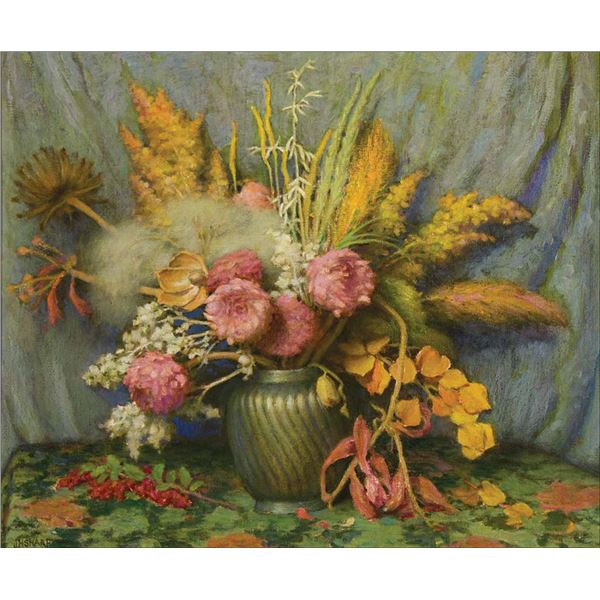 Joseph H. Sharp -Autumn Flowers, Weeds, Grasses and Seed Pods