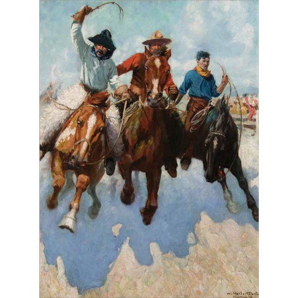 William Dunton -Three Montana Cowboys