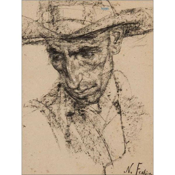 Nicolai Fechin -Man with Crooked Nose