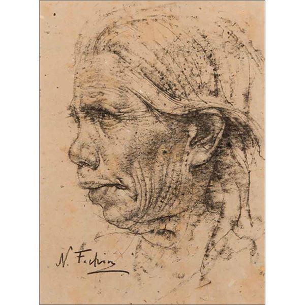 Nicolai Fechin -Old Indian Woman
