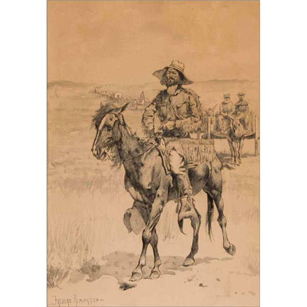 Frederic Remington -On the Way to the Platte
