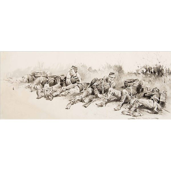Frederic Remington -Halt by the Roadside OR The Story of a Thousand