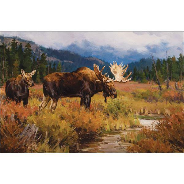 Ray Sexton -Moose at Vermillion Lakes
