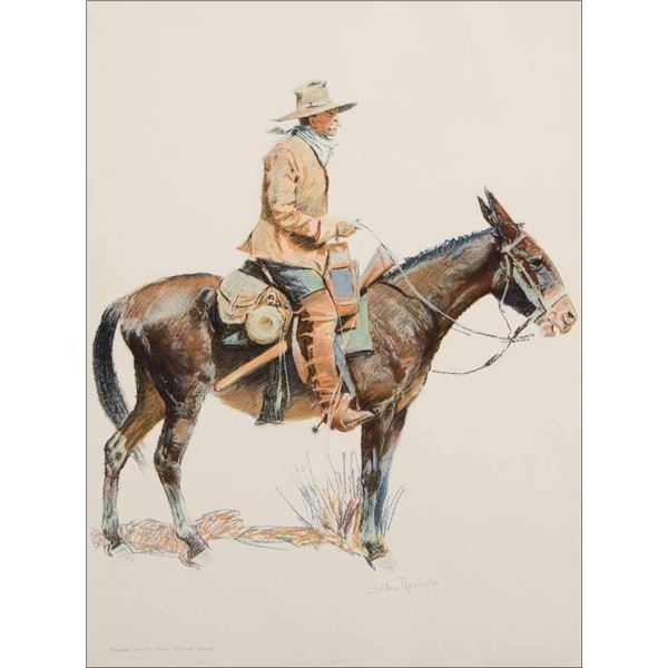 Frederic Remington -Army Packer & Calvary Officer