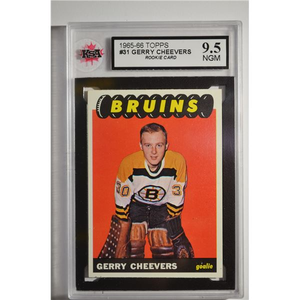 1965-66 Topps #31 Gerry Cheevers ROOKIE