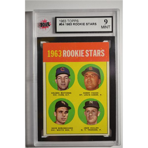 1963 Topps #54B Rookie Stars