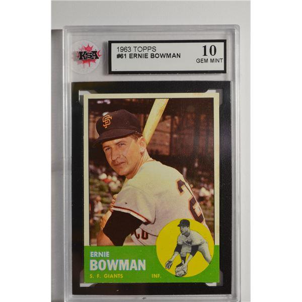 1963 Topps #61 Ernie Bowman