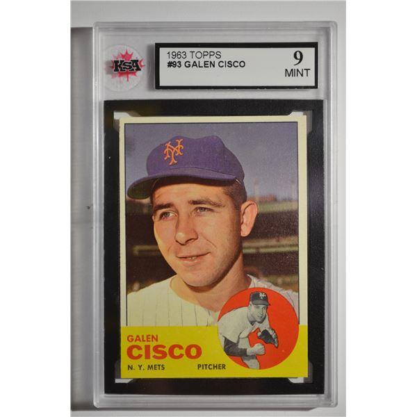 1963 Topps #93 Galen Cisco