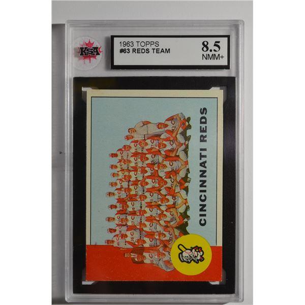 1963 Topps #63 Cincinnati Reds TC