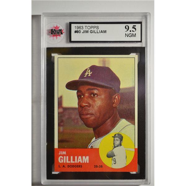 1963 Topps #80 Jim Gilliam