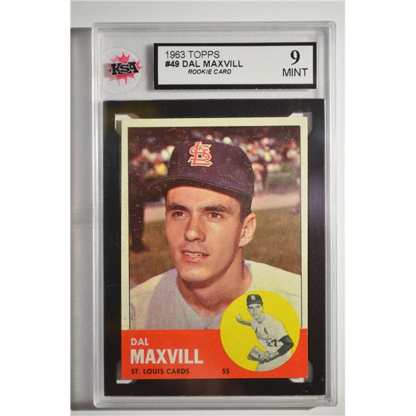 1963 Topps #49 Dal Maxvill ROOKIE
