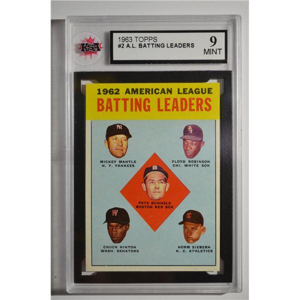 1963 Topps #2 AL Batting Leaders