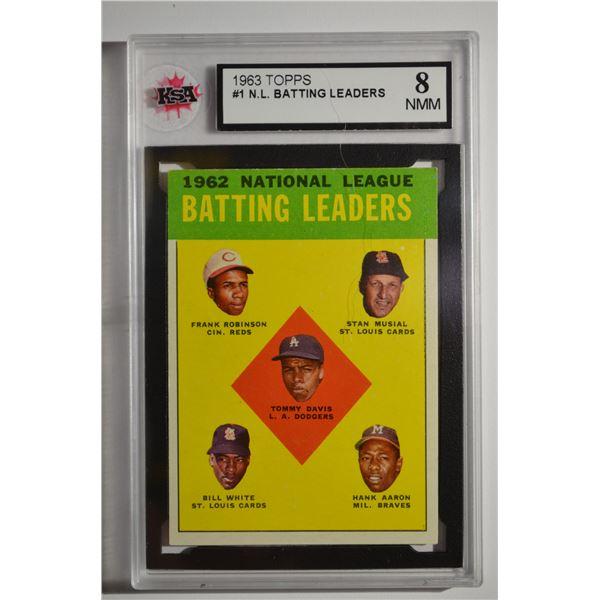 1963 Topps #1 NL Batting Leaders