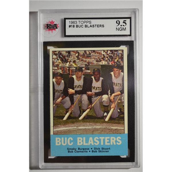 1963 Topps #18 Buc Blasters