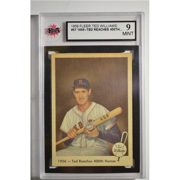 1959 Fleer Ted Williams #57 400th Homer