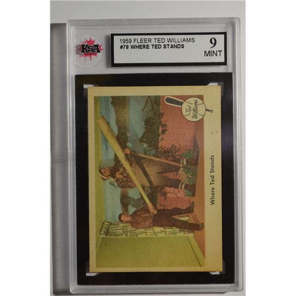 1959 Fleer Ted Williams #79 Where Ted Stands