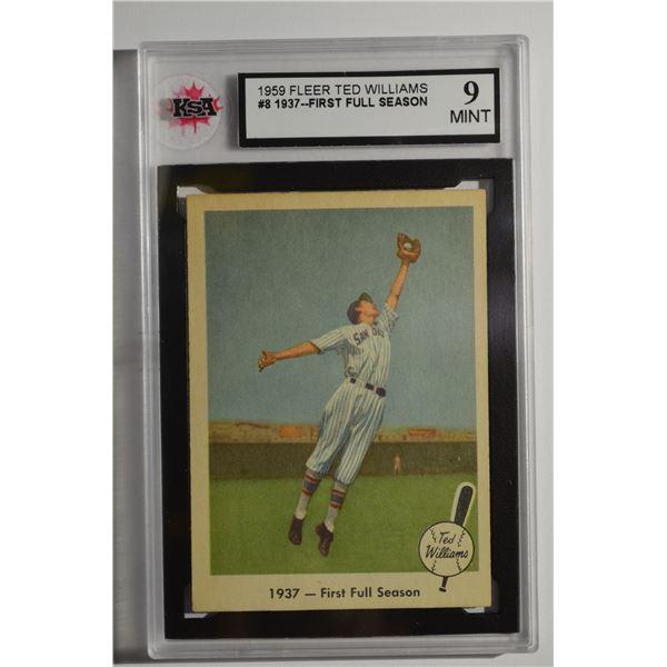 1959 Fleer Ted Williams #8 1937 First Full Season