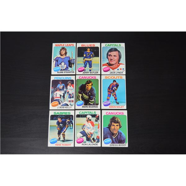 1975-76 Topps (9 Cards)