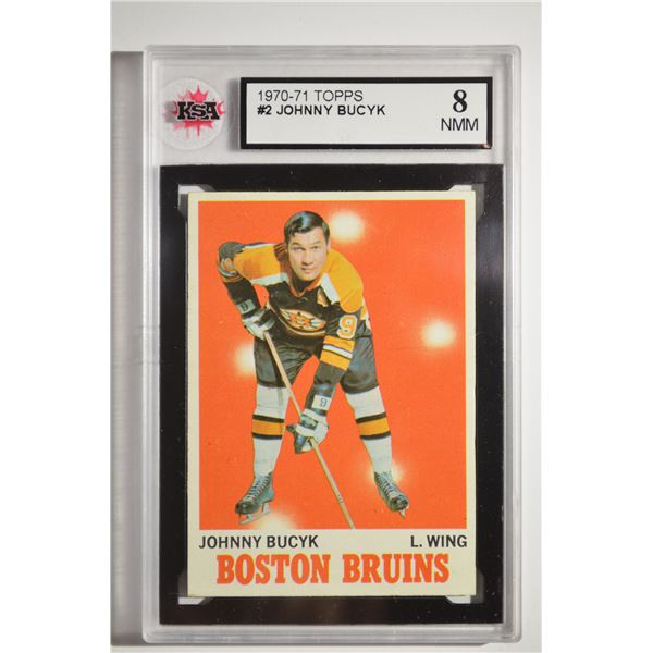 1970-71 Topps #2 Johnny Bucyk