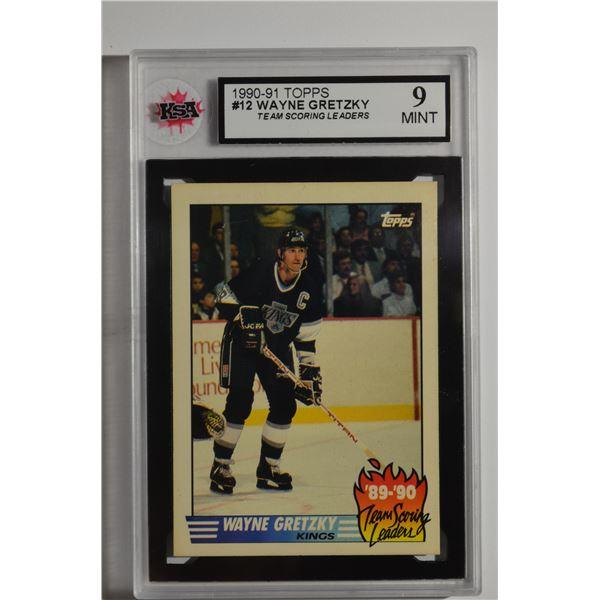 1990-91 Topps Team Scoring Leaders #12 Wayne Gretzky