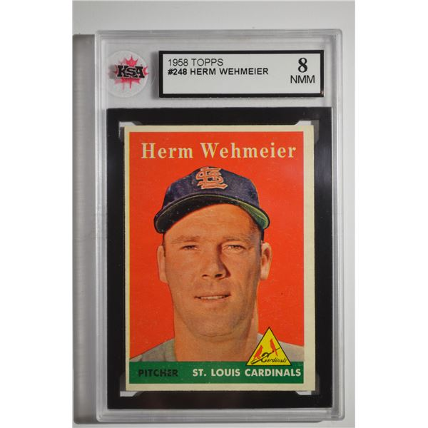 1958 Topps #248 Herman Wehmeier
