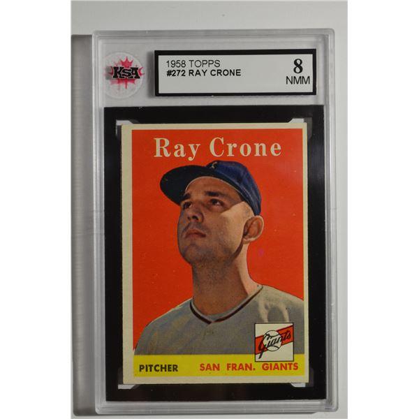 1958 Topps #272 Ray Crone
