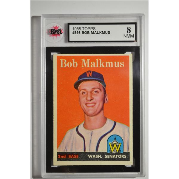 1958 Topps #356 Bob Malkmus ROOKIE