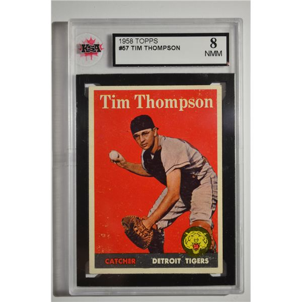 1958 Topps #57A Tim Thompson