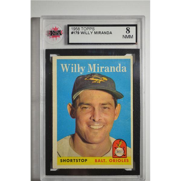 1958 Topps #179 Willie Miranda