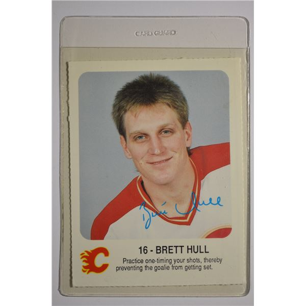 1987-88 Flames Red Rooster #8 Brett Hull