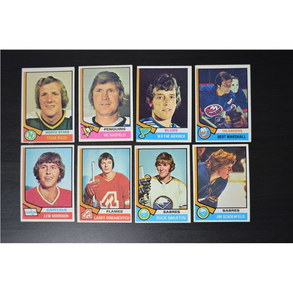 1974-75 Topps (8 Cards)