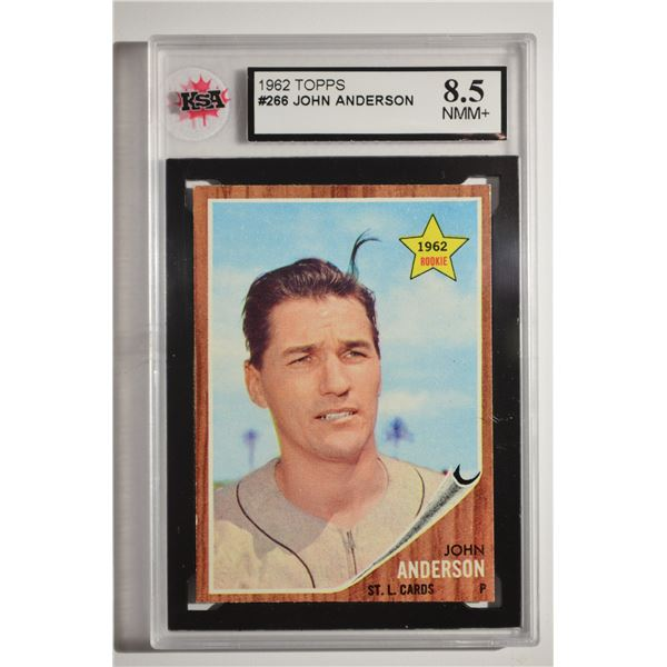 1962 Topps #266 John Anderson ROOKIE