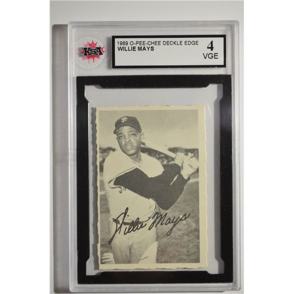 1969 O-Pee-Chee Deckle #16 Willie Mays
