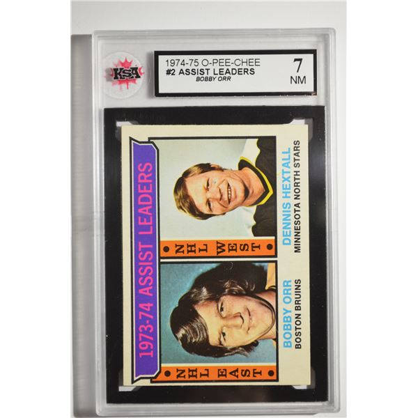 1974-75 O-Pee-Chee #2 Assists Leaders/Bobby Orr/Dennis Hextall