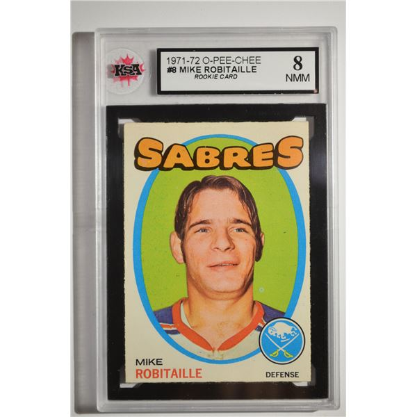 1971-72 O-Pee-Chee #8 Mike Robitaille ROOKIE