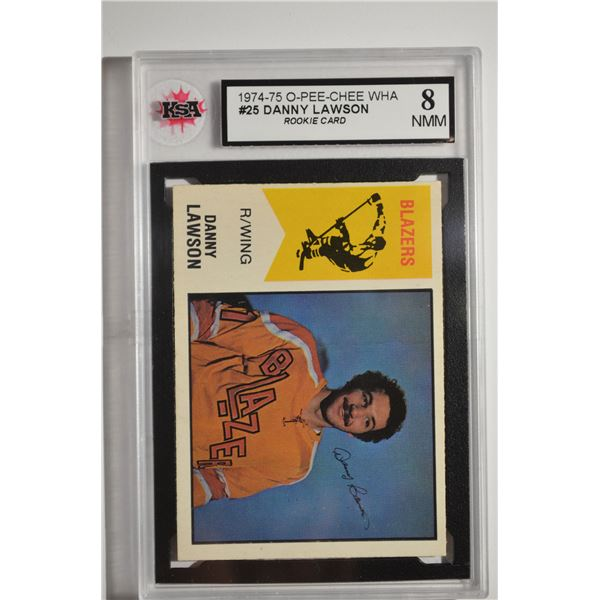 1974-75 O-Pee-Chee WHA #25 Danny Lawson ROOKIE