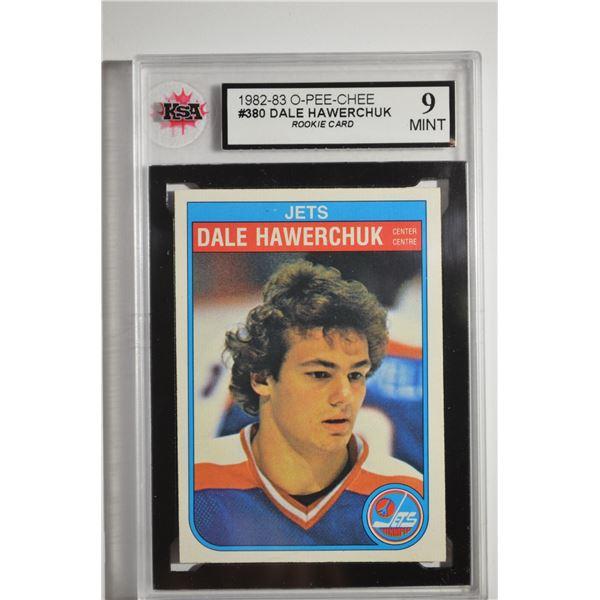 1982-83 O-Pee-Chee #380 Dale HaweROOKIEhuk ROOKIE