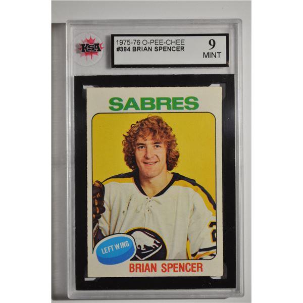 1975-76 O-Pee-Chee #384 Brian Spencer