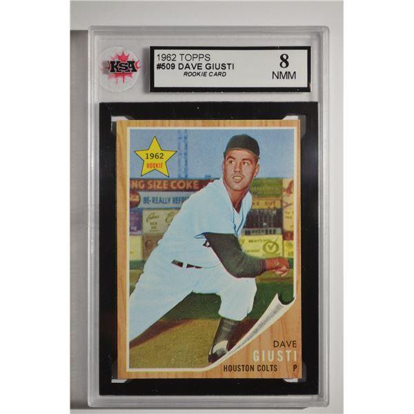 1962 Topps #509 Dave Giusti ROOKIE